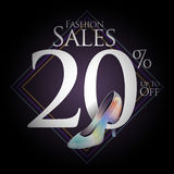 Chaussures de mode à vendre et des offres Images libres de droits
