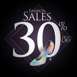Chaussures de mode à vendre et des offres Photographie stock libre de droits