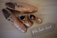 Chaussures de parent et d'enfant Image stock