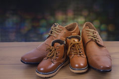 Chaussures de parent et d'enfant Photo stock