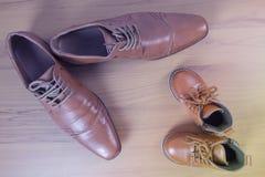 Chaussures de parent et d'enfant Photo libre de droits