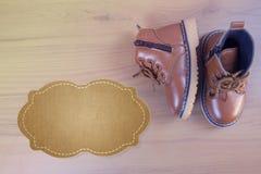 Chaussures de petit garçon Photographie stock libre de droits