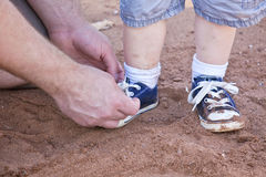Chaussures de petits garçons Photographie stock