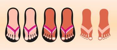 Chaussures de plage Illustration Libre de Droits