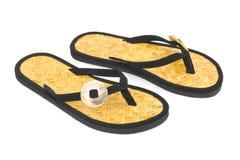 Chaussures de plage Photos libres de droits