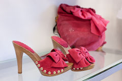 Chaussures de Rose Image stock