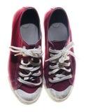Chaussures de rouge d'espadrilles Image stock