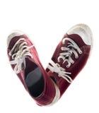 Chaussures de rouge d'espadrilles Image libre de droits