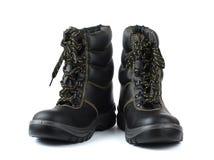 Chaussures de sécurité rugueuses Photos stock