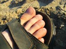 Chaussures de sable Photos stock