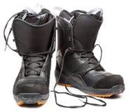 Chaussures de Snowboard Image libre de droits