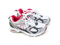 Chaussures de sport d'isolement Images stock