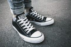 Chaussures de sport de Chuck Taylor All-Stars par l'inverse Images libres de droits