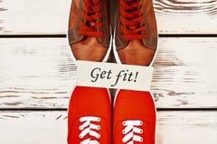 Chaussures de sport du ` s d'hommes Images stock