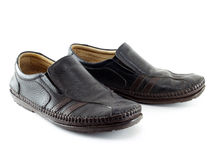 Chaussures de sport en cuir Photo stock