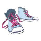 Chaussures de sport. Espadrilles. Image stock