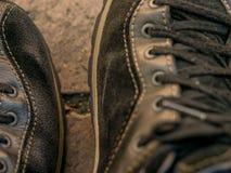 Chaussures de sport noires Image libre de droits
