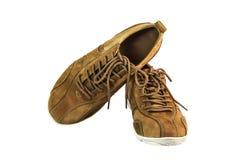 Chaussures de suède de Brown Images stock