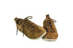 Chaussures de suède de Brown Images libres de droits