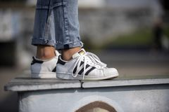 Chaussures de superstar d'Adidas Photo stock