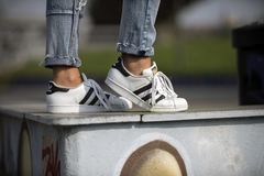 Chaussures de superstar d'Adidas Image stock