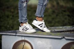 Chaussures de superstar d'Adidas Photographie stock