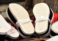 Chaussures de tissu Images stock