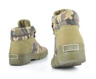 Chaussures de tissu de camouflage Photographie stock