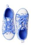 Chaussures de toile bleues Photographie stock libre de droits