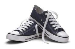 Chaussures de toile bleues Photographie stock