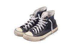 Chaussures de toile d'isolement sur le blanc Photographie stock libre de droits