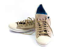 Chaussures de toile de Brown Photo stock