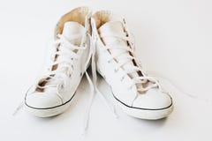 Chaussures de toile des femmes Photo libre de droits