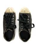 Chaussures de toile noires Photographie stock libre de droits