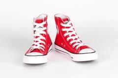 Chaussures de toile rouges Photo libre de droits