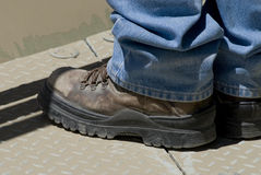 Chaussures de travail Image stock