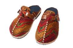 Chaussures de tribu chez la Thaïlande du nord Image libre de droits