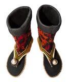 Chaussures de tribu chez la Thaïlande du nord Images stock