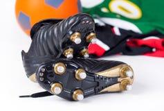 Chaussures du football Photos stock