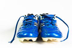 Chaussures du football d'isolement Image stock
