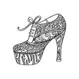 Chaussures du ` s de femmes avec l'ornement floral Images stock