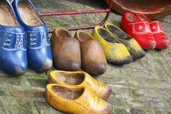 Chaussures en bois de Duch - entraves Photographie stock