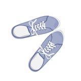 Chaussures en caoutchouc bleus de sport illustration libre de droits