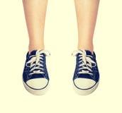 Chaussures en caoutchouc de mode de vintage Photos libres de droits