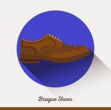 Chaussures en cuir classiques de brogue de vecteur Homme d'affaires Photos stock