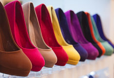 Chaussures en cuir colorées Photo libre de droits