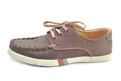 Chaussures en cuir d'hommes Photos stock
