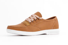 Chaussures en cuir de Brown Photos libres de droits
