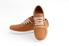 Chaussures en cuir de Brown Images libres de droits