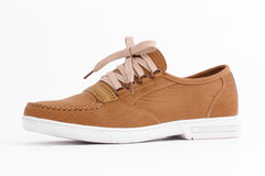 Chaussures en cuir de Brown Photo stock